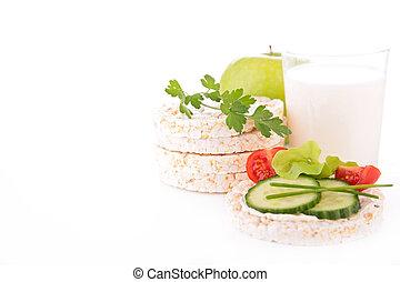 rice cake and milk