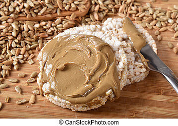 Rice Cakes with Sunflower Seed Butter