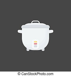 Rice cooker vector flat icon