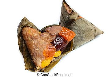 Rice dumpling, zongzi or bakcang.