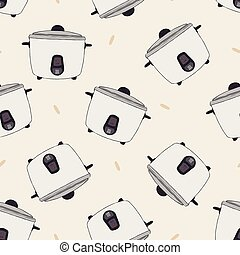 rice electric cooker oven vector. seamless pattern vector.