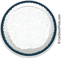 rice - illustration of rice on a white background