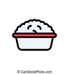 rice  flat color icon