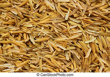 Rice husk, cultivating materials