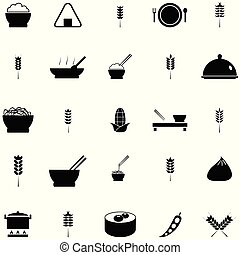 rice icon set