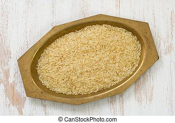 rice in dish