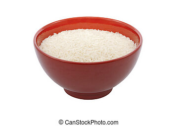 Rice in Red Bowl