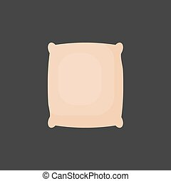 Rice in sackcloth bag vector flat icon, Flat design of...
