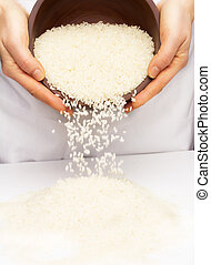 Rice in the hands