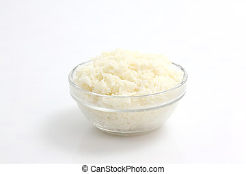 Rice isolated in white background