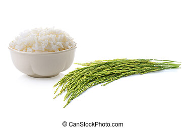 Rice isolated on a white background