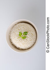 Rice isolated on white