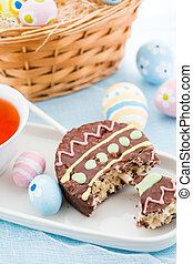Rice Krispy treats - Easter rice krispy pop treats in shpae...