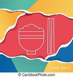 rice line icon
