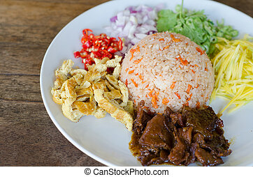 Rice Mixed with Shrimp paste
