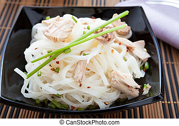 rice noodles with salted fish