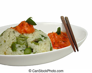 Rice on a plate