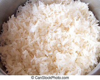 rice on plate close-up
