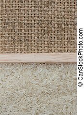 rice on sackcloth