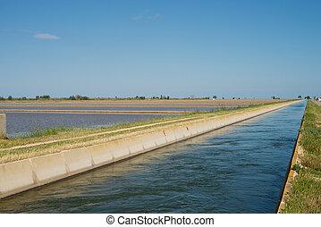 Rice paddy irrigation