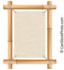 Rice paper in a framework from a bamboo
