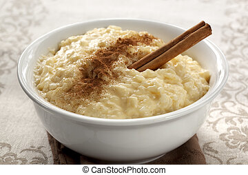 Rice Pudding - Creamy rice pudding with cinnamon. A simple,...