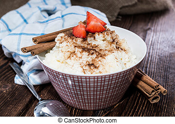 Rice Pudding - Fresh homemade Rice Pudding topped with...