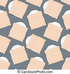 Rice sack vector seamless pattern