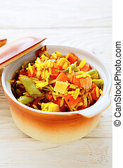 rice side dish with roasted vegetables
