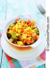rice side dish with vegetable mix