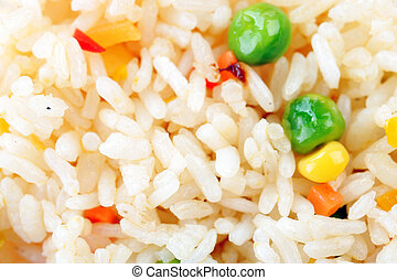 rice with vegetables close up