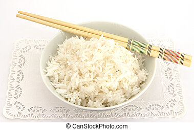 Ricebowl 2 - A bowl of rice and chopsticks