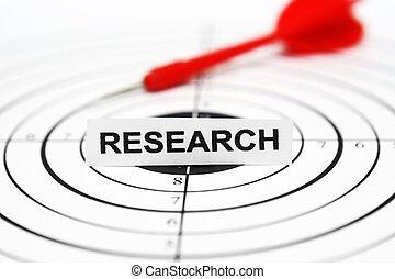 ricerca, bersaglio, concetto