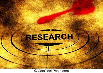 ricerca, bersaglio, grunge, concetto