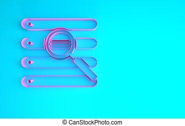 ricerca, browser, concept., fondo., rosa, illustrazione, isolato, finestra, icona, blu, 3d, minimalismo, render