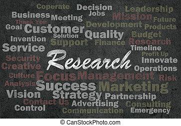 ricerca, concetto, concetto, con, affari, relativo, parole, su, retro, ba