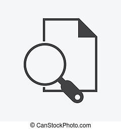 ricerca, documenti, icona