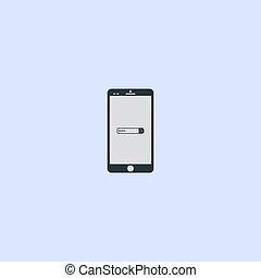 ricerca, eps10, stile, vettore, finestra, telefono, screen., moderno, simbolo