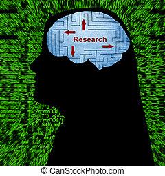 ricerca, in, mente