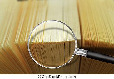 ricerca, lupe-