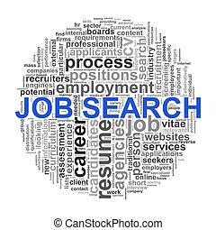 ricerca, parola, etichette, lavoro, wordcloud, disegno, circolare