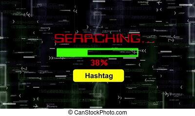 ricerca, per, hashtag, linea