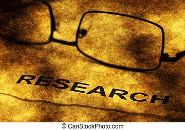 ricerca, testo, grunge, concetto