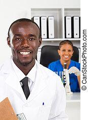 ricercatore, medico, africano