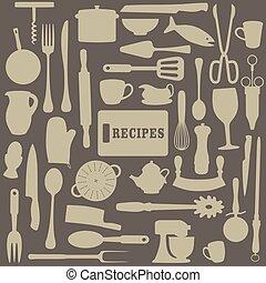 ricette, illustrazione