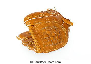 ricevitore baseball, manopola, isolato, bianco, fondo