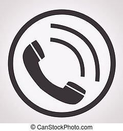 ricevitore, telefono, icona
