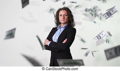 Rich And Confident - Confident businesswoman looking at...