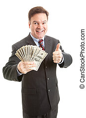 Rich Businessman Thumbsup
