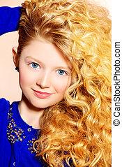rich curly hair